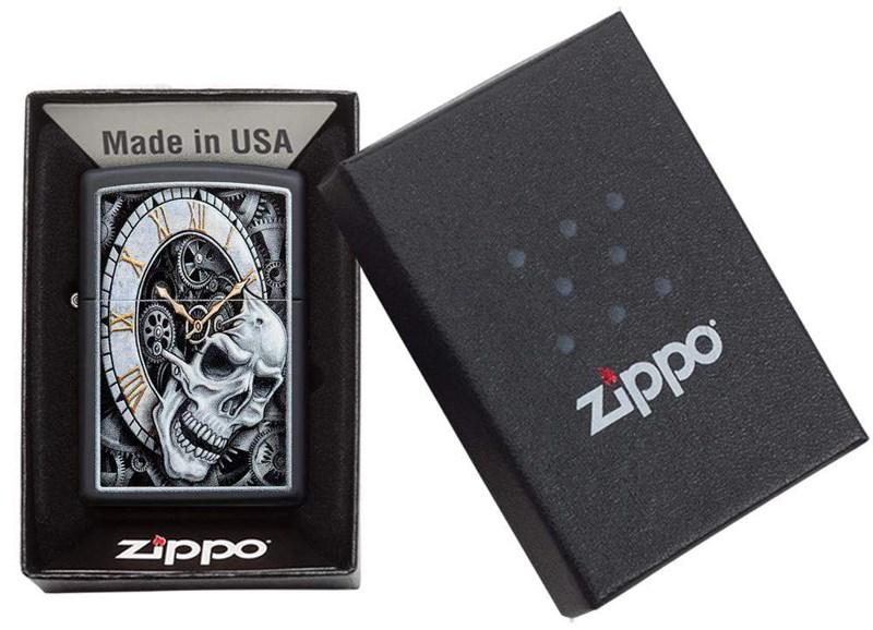 ZIPPO SKULL CLOCK 29854