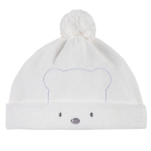 Купить Шапка Chicco для мальчиков и девочек р.36 цв.белый, Детские шапки