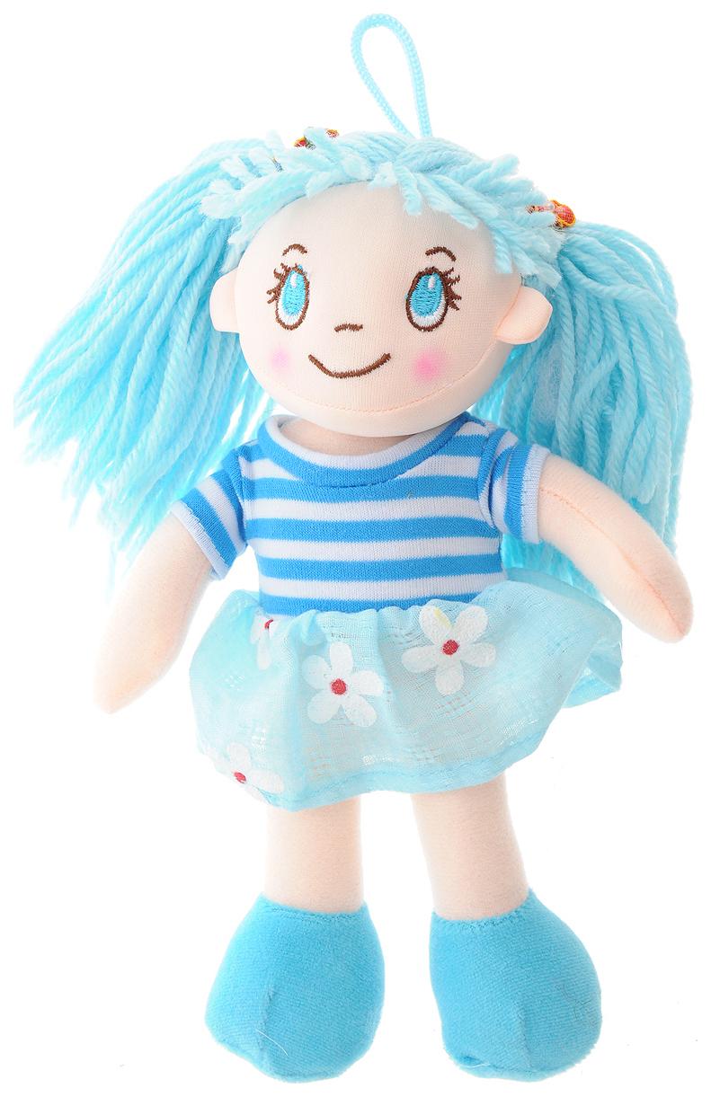 Купить Кукла мягконабивная, 20 см (в голубом платье в цветочек), ABtoys, Классические куклы