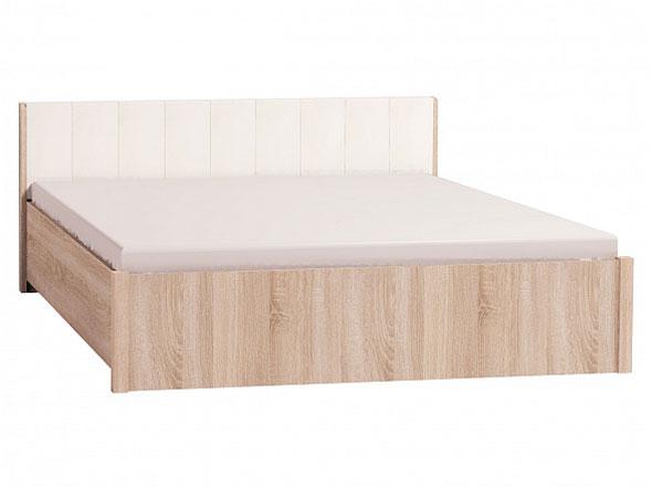 Двуспальная кровать Глазов BERLIN3x дуб сонома, винил кожа, спальное место 140х200 см