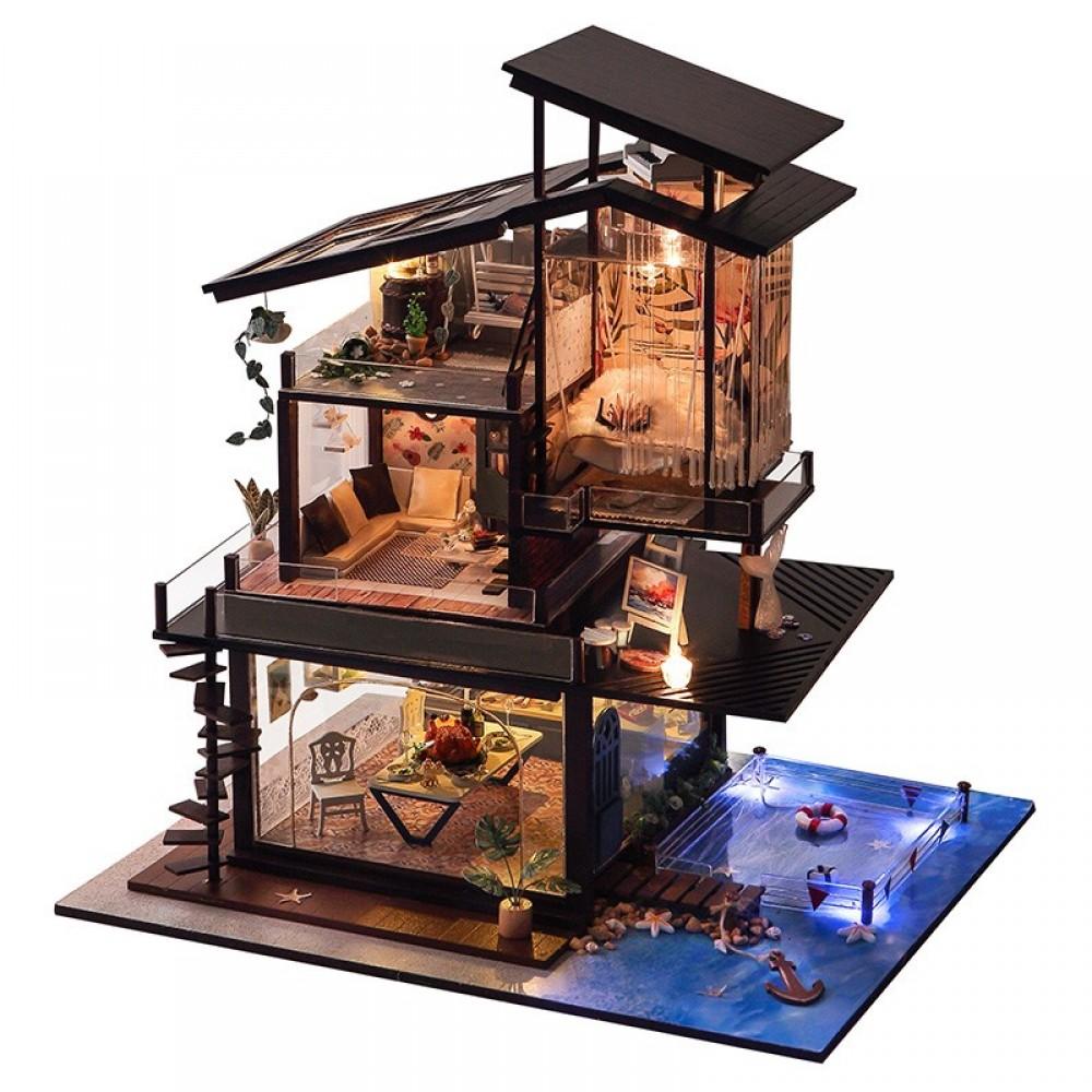 Купить Кукольный дом DIY RoomBoCom Valencia coast интерьерный домик DIYRB-TB13, Деревянные конструкторы