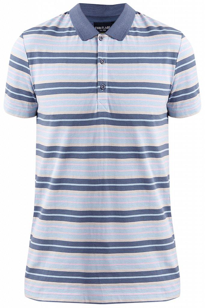Купить KS19-81005, Футболка Поло для мальчика Finn Flare, цв. голубой, р-р. 140, Детские футболки, топы