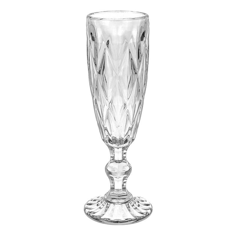 Бокал для шампанского переливы граней, 6х20