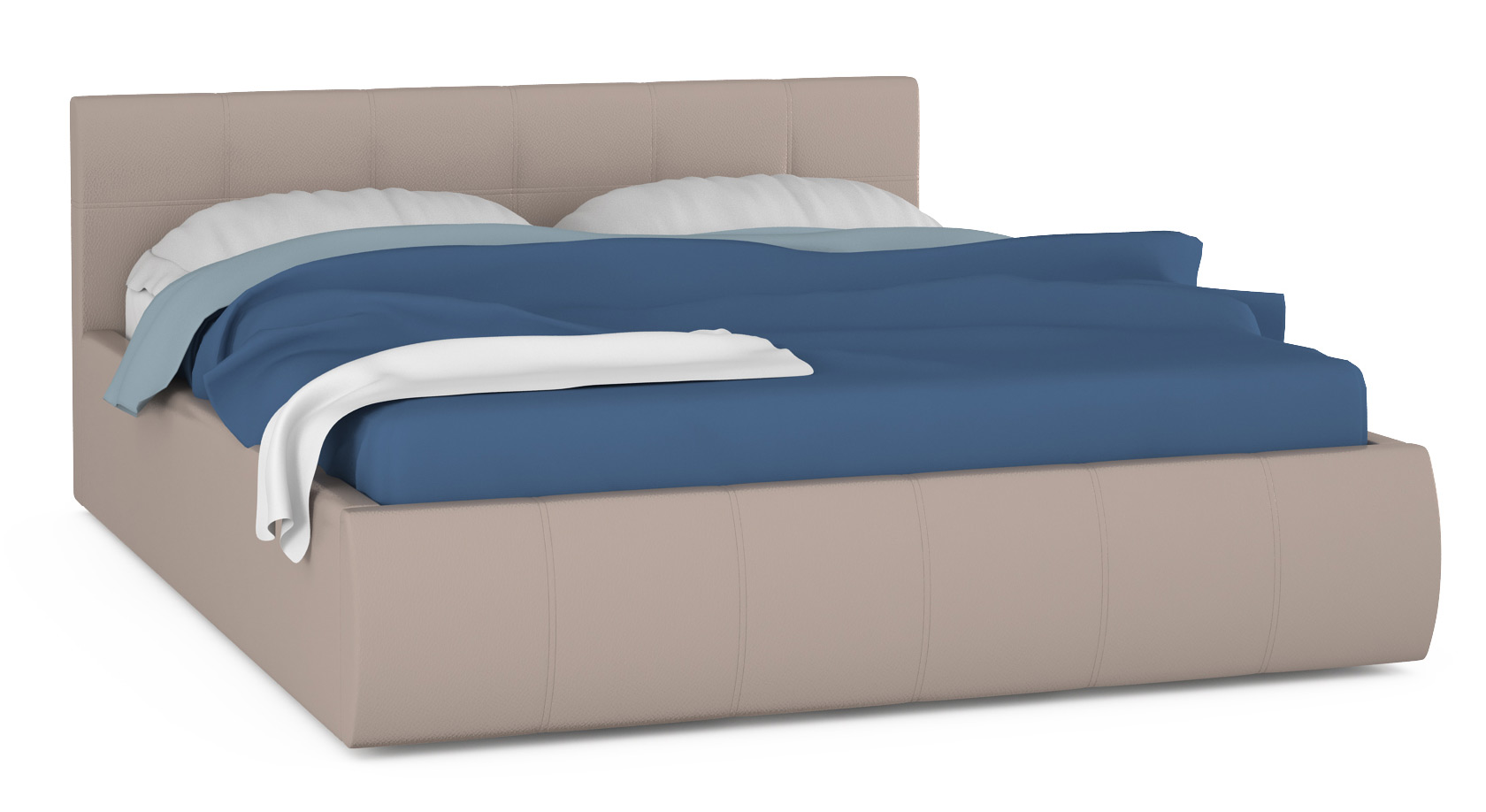 Кровать интерьерная Mobi Афина 177х219х81 см, бежевый фото