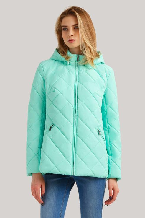 Куртка женская Finn Flare B19-11013 бирюзовая S фото