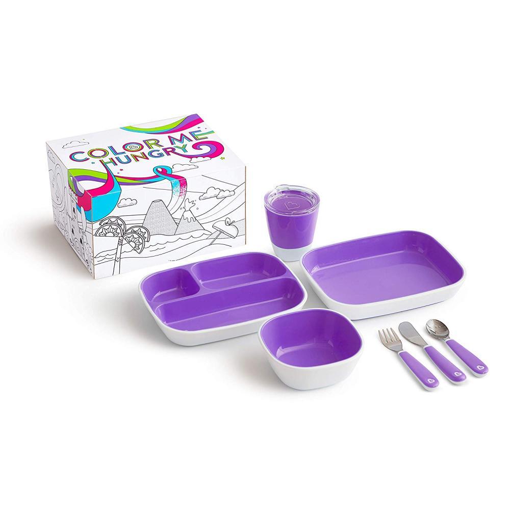 Набор посуды Munchkin 7 предметов, фиолетовый