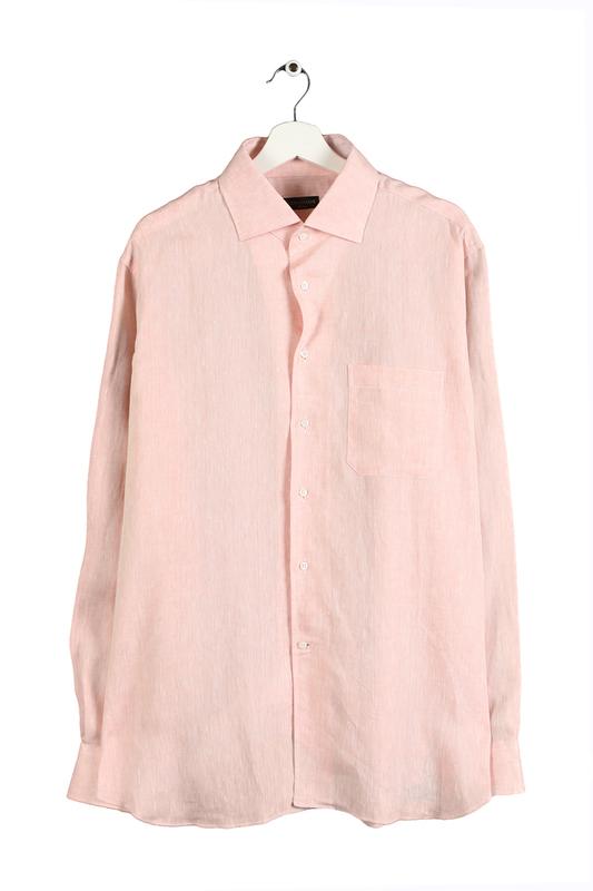 Рубашка мужская Corneliani 11091 розовая 44 IT