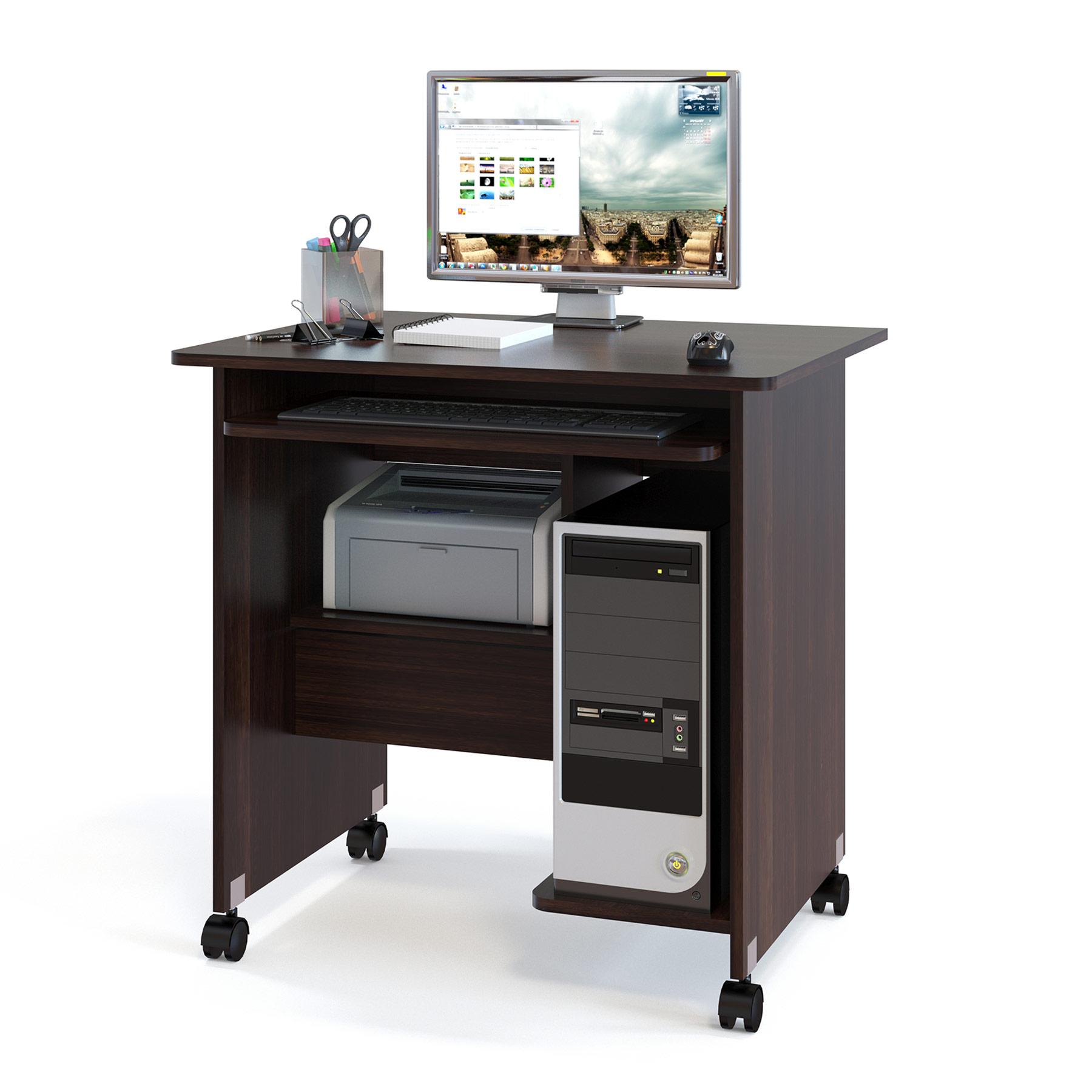 Компьютерный стол СОКОЛ КСТ-10.1 80x60x80, дуб венге