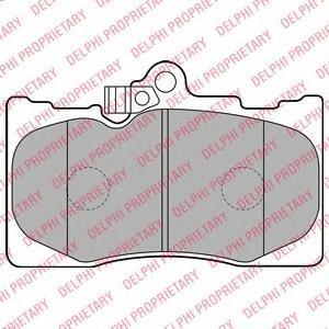 Тормозные колодки дисковые Delphi LP2122 фото