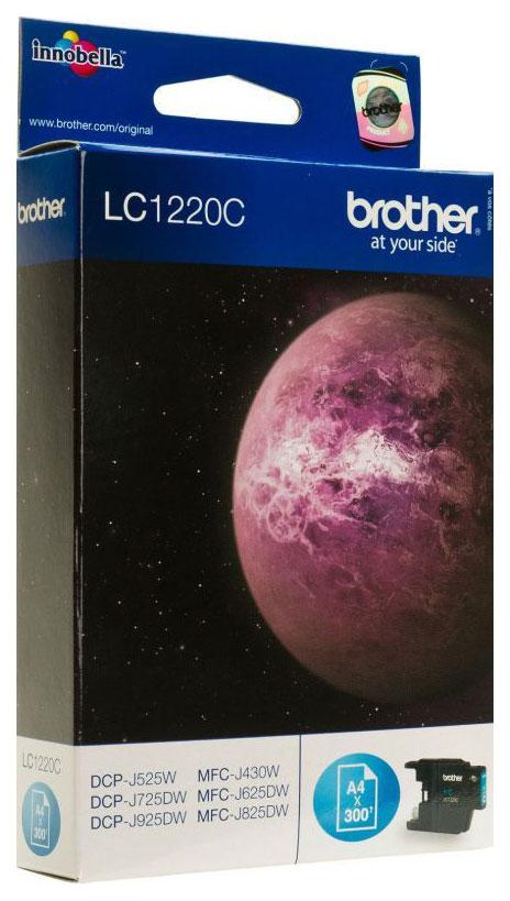 Картридж Brother LC1220C Голубой  - купить со скидкой