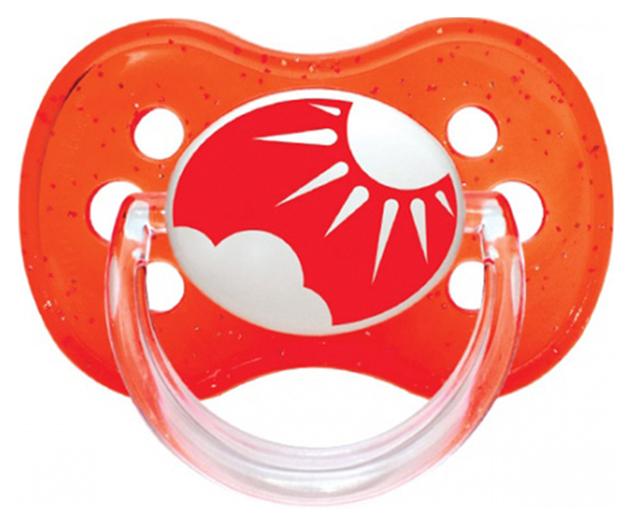Пустышка силиконовая круглая Canpol Babies Nature 6-18 мес 22/435, Красная