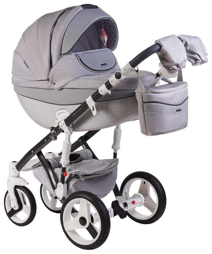 Купить Коляска 2 в 1 Adamex MONTE CARBON (серый D8), Детские коляски 2 в 1