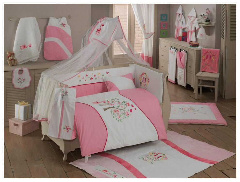Купить Комплект из 6 предметов серия 'Sweet Flowers', Комплект детского постельного белья Kidboo Sweet Flowers,