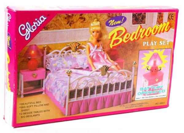 Мебель для кукол Gloria Спальня со световыми эффектами
