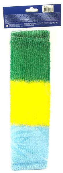 Мочалка для тела VIVAL Массажная трехцветная
