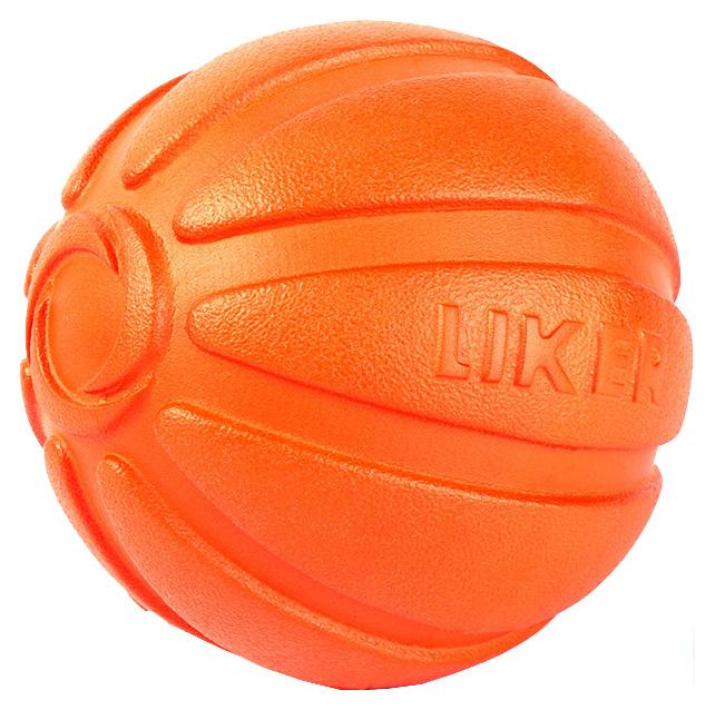 Апорт для собак LIKER Мячик, оранжевый, длина