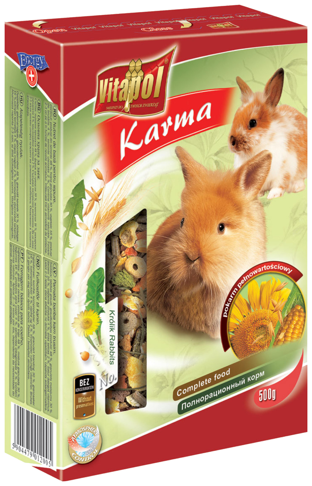 Корм для кроликов Vitapol Karma 0.5