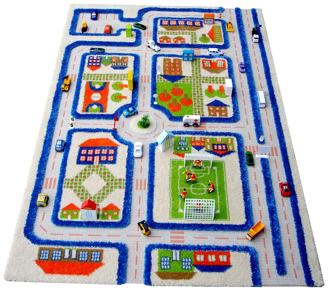 Детский игровой 3D-ковер IVI Трафик синий 80 х 150 см