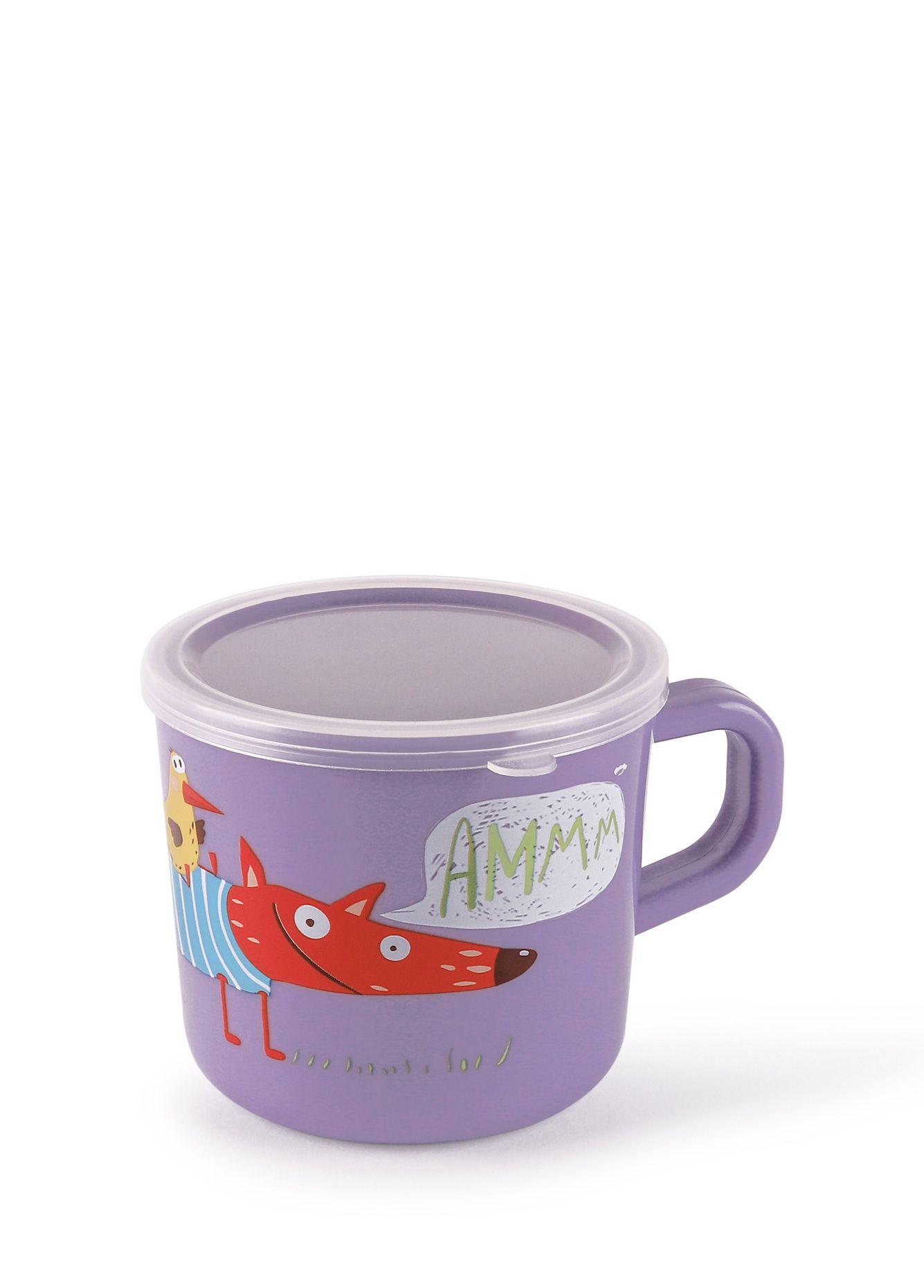 Купить Кружка с ручкой и крышкой Happy Baby Lavender TRAINING CUP, Чашки детские