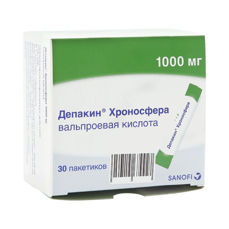 Депакин Хроносфера гранулы 1000 мг 30 шт.