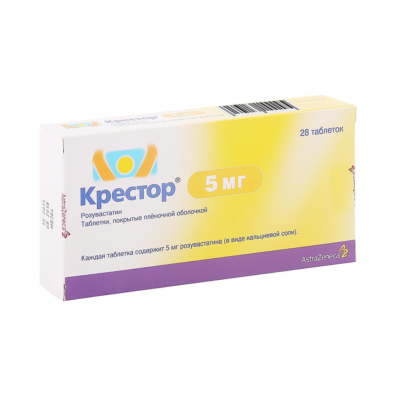 Крестор таблетки 5 мг 28 шт.