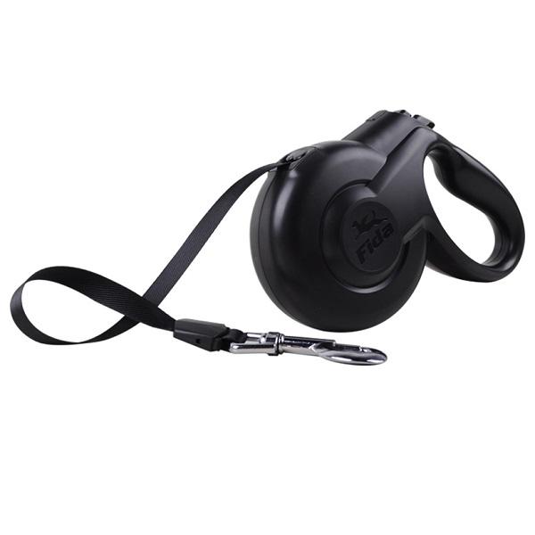 Поводок-рулетка Fida Styleash 5м для собак средних пород до 25 кг черная