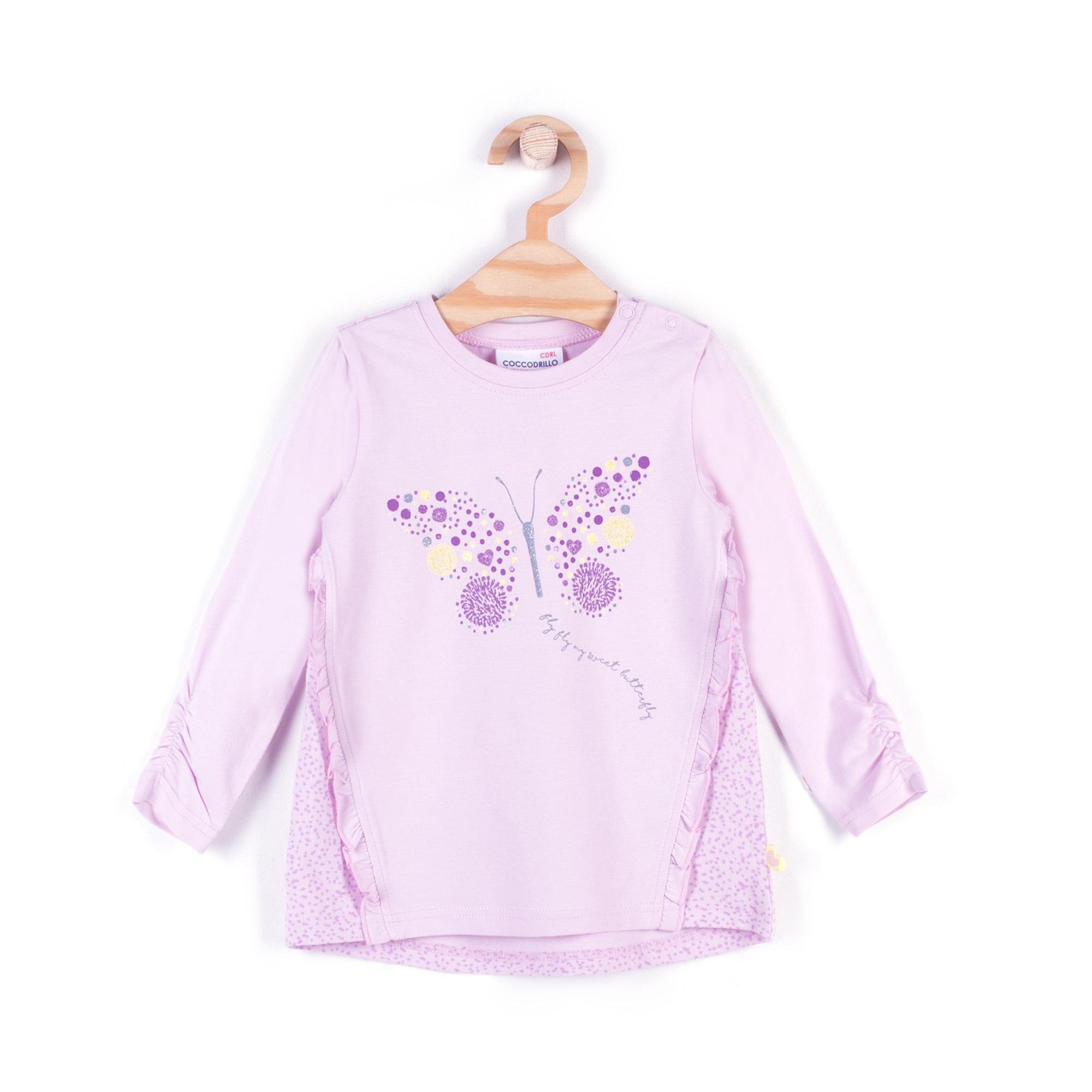 Купить W18144101BES, Лонгслив для девочек COCCODRILLO р.68, Детские футболки, топы