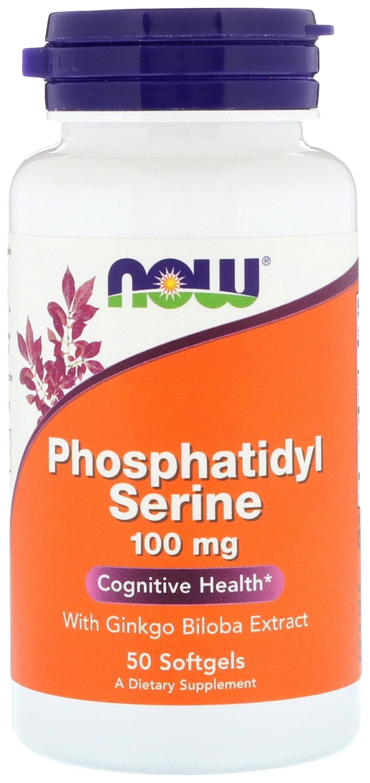 Купить Для нервной системы NOW Phosphatidyl Serine 100 мг 50 капсул