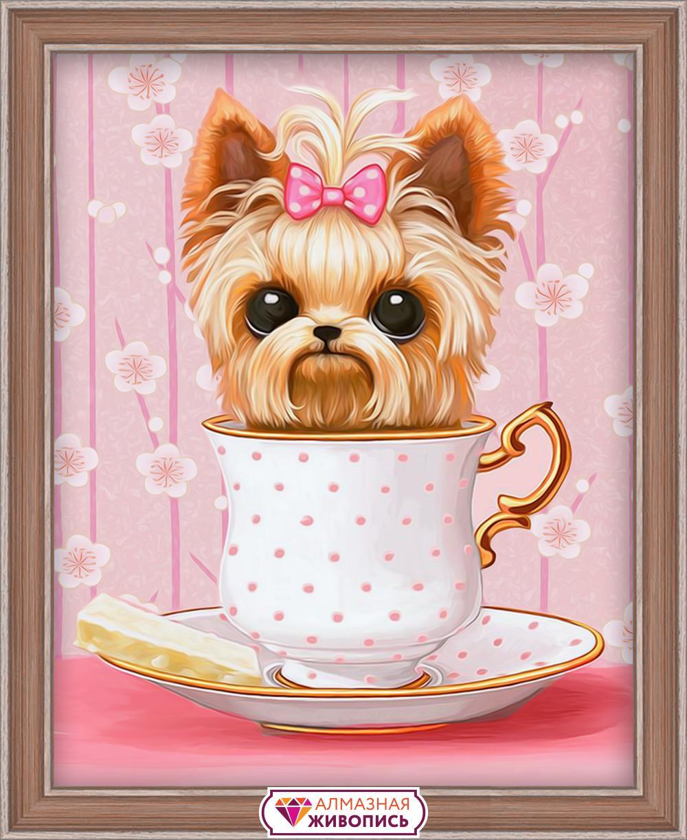 Алмазная мозаика АЛМАЗНАЯ ЖИВОПИСЬ АЖ-1542 Озорной щенок