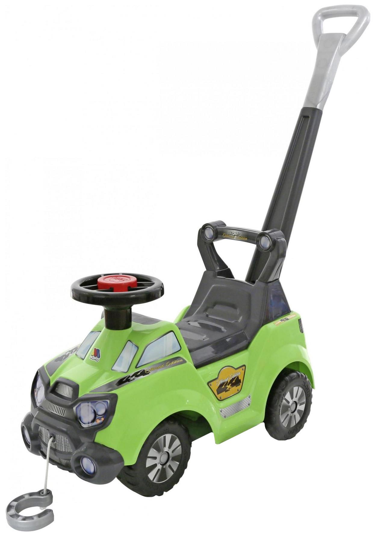Машина-каталка Полесье Sokol с ручкой Зеленый