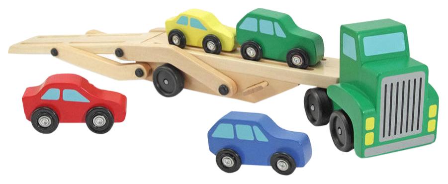 Купить Деревянная игрушка Melissa&Doug Обучающая игра Машинка для перевозки автомобилей, Melissa & Doug, Развивающие игрушки
