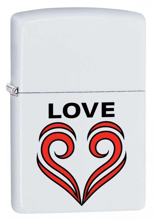 Зажигалка Zippo 214 Love Theme White Matte