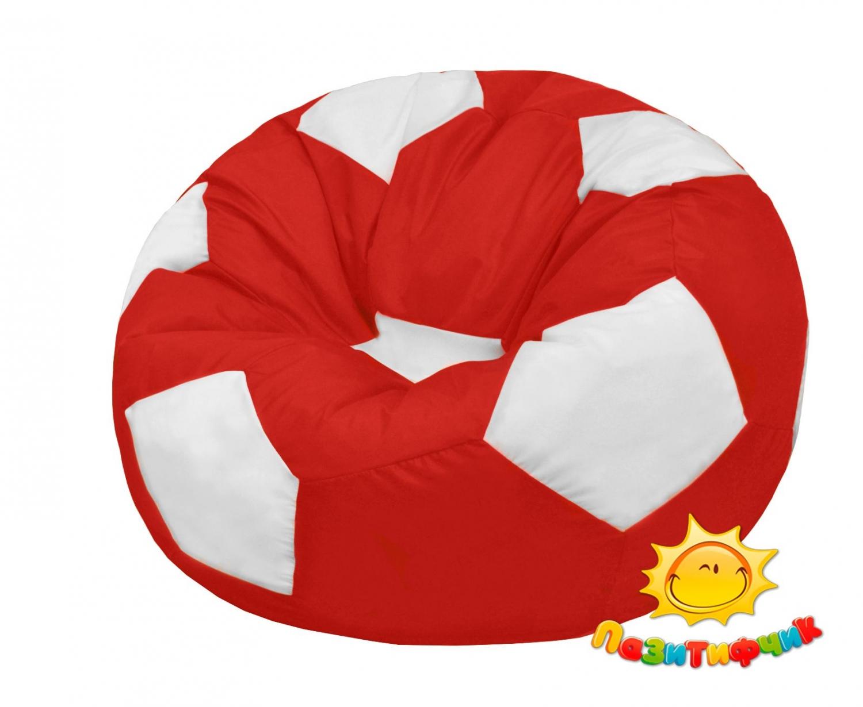 Кресло-мяч Pazitif Мяч Пазитифчик, размер L, оксфорд, красно-белый фото