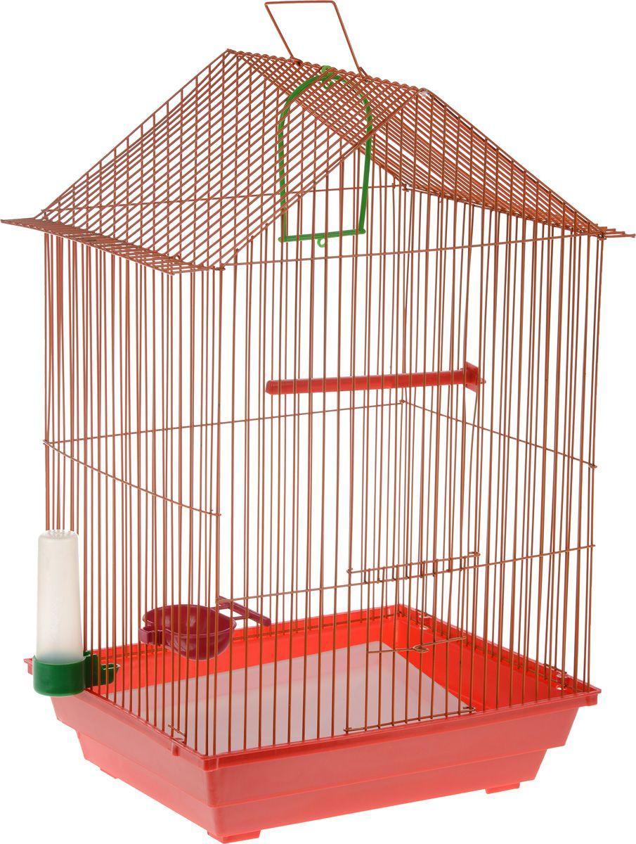 Клетка для птиц ZooMark, большая, домик, комплект,
