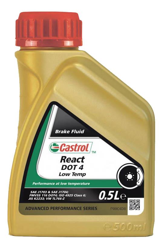 Тормозная жидкость Castrol React DOT 4 Low Temp 0.5л 1581B4
