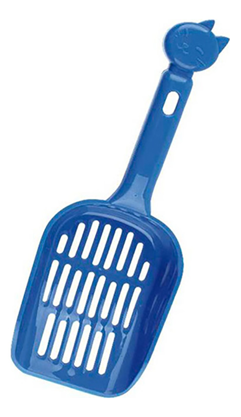 Совок для кошачьего туалета MAJOR синий пластик