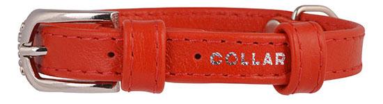 Ошейник COLLAR GLAMOUR без украшений, 9мм, 19-25см, красный