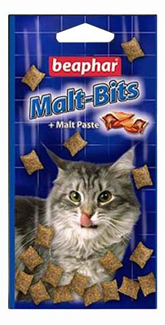 Лакомство для кошек BEAPHAR Malt-Bits Подушечки с мальт-пастой, 35г фото