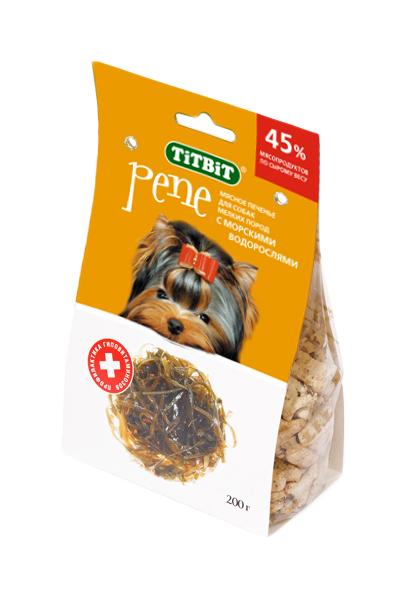 Лакомство для собак TiTBiT, печенье PENE с морскими водорослями, 200г