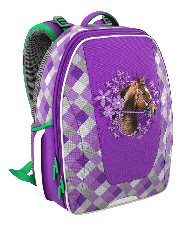 Купить Ранец Erich Krause Wild Horse с эргономичной спинкой, ErichKrause, Школьные рюкзаки для девочек