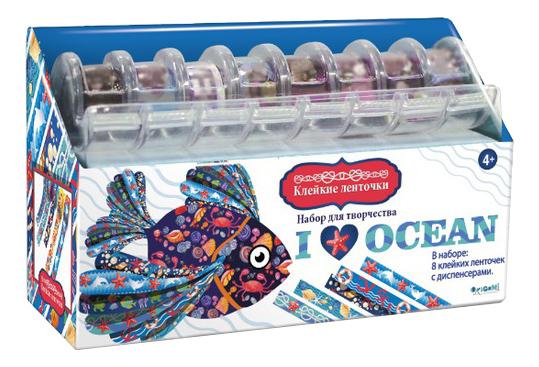 Наклейка декоративная для детской комнаты Origami Я Люблю Океан