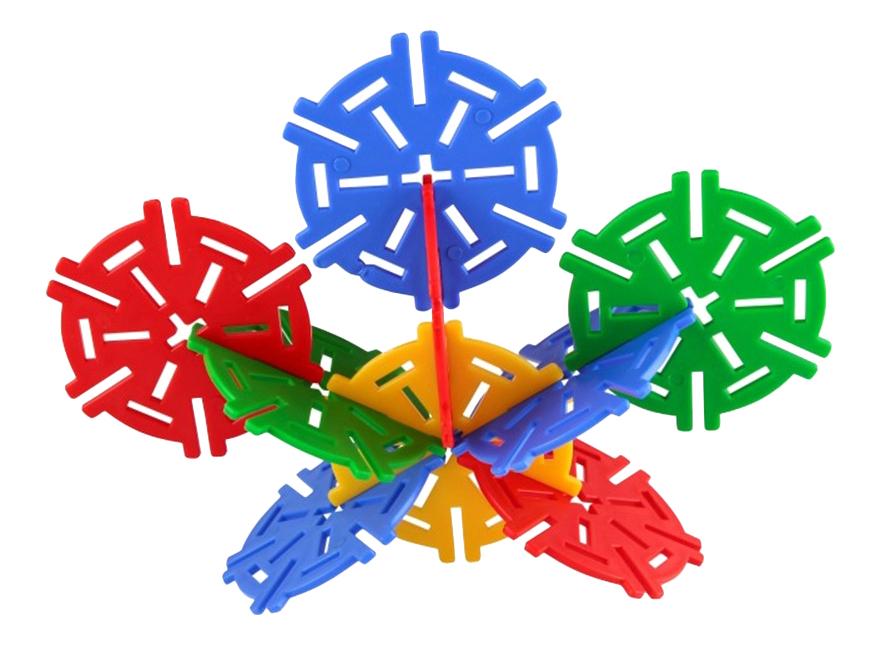 Купить Конструктор пластиковый Pilsan Magic Circles 60 деталей, Конструкторы пластмассовые