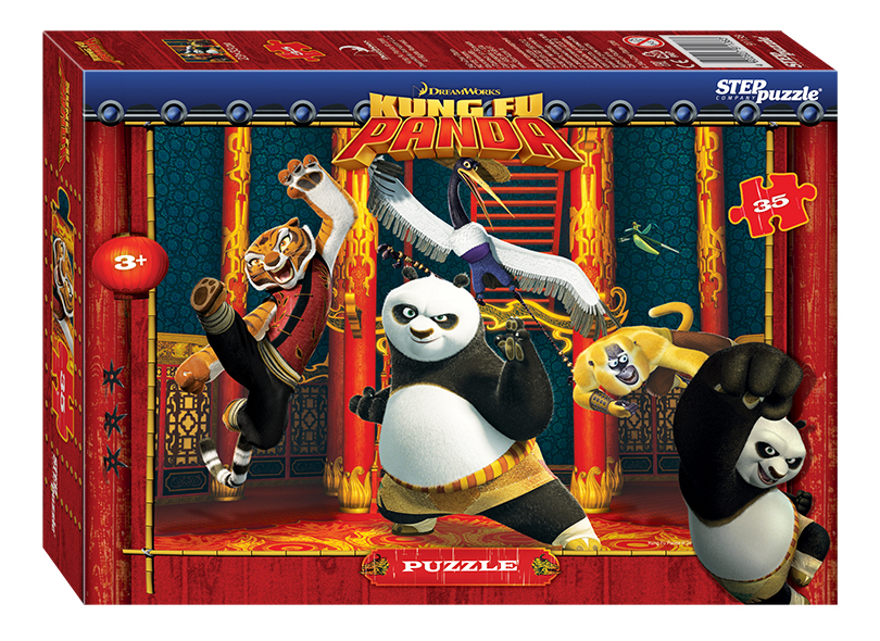 Купить Пазл Step Puzzle Maxi Кунг-фу панда 35 деталей, Пазлы