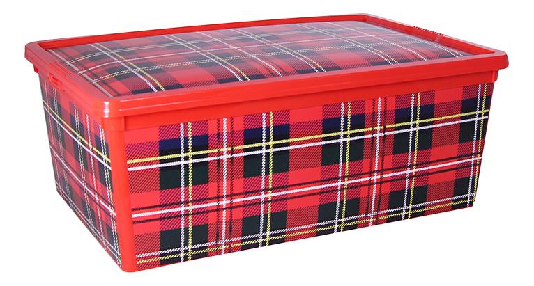 Ящик для хранения игрушек Idea Деко красный 10 л