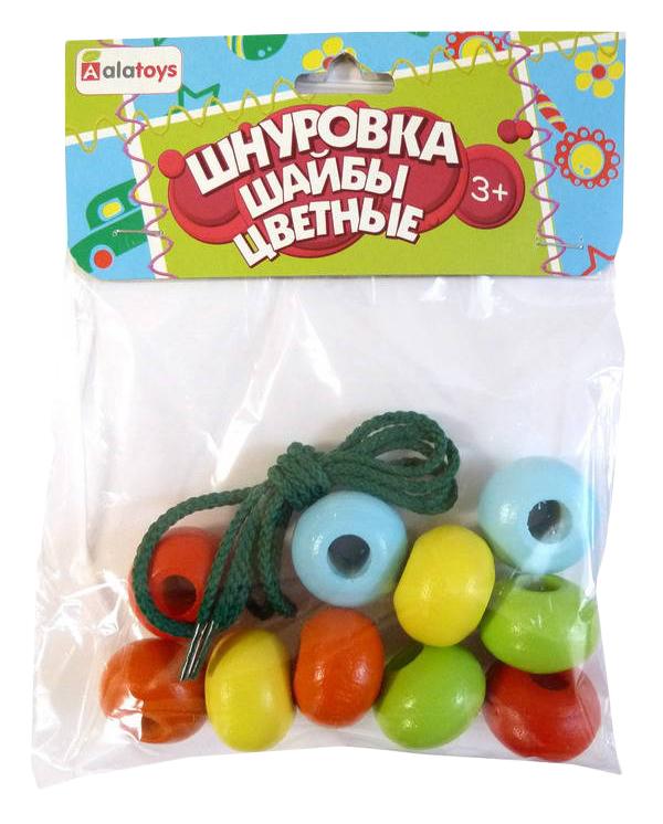 Купить Шнуровка Alatoys Шайбы цветные , Алатойс, Шнуровки для детей