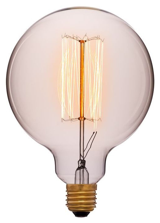Лампа накаливания E27 40W шар золотой