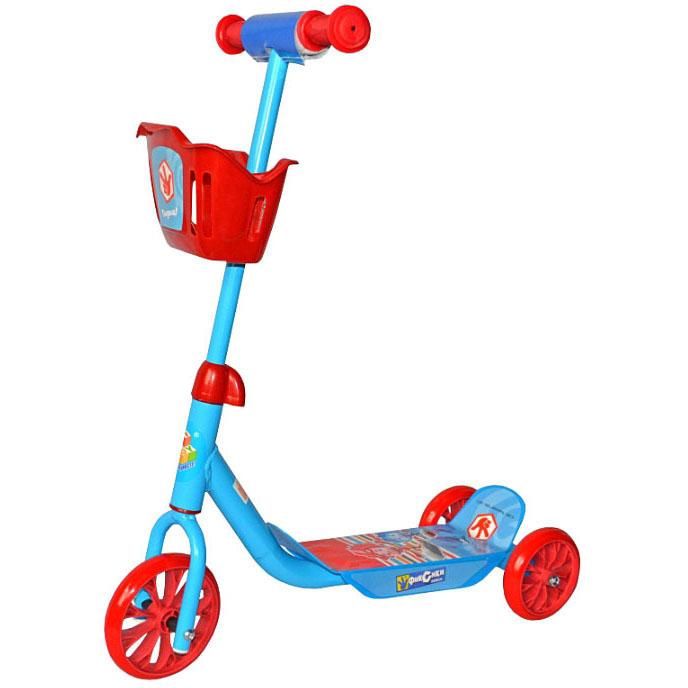 Купить Самокат трехколесный 1 Toy Фиксики Т59571 голубой, Самокаты детские трехколесные