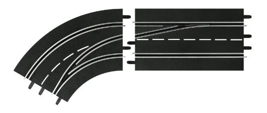 Купить Автотрек Carrera Поворот слева со сменой полосы, с внутренней на внешнюю, Детские автотреки