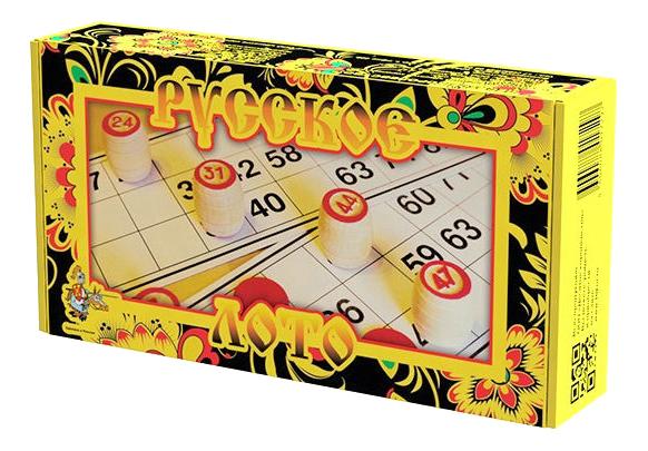 Настольная игра Десятое Королевство Лото деревянное. Русское лото