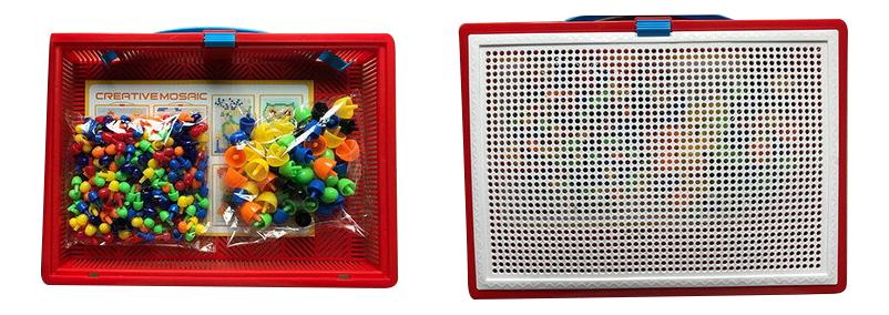 Купить PT-00764, Мозаика ABtoys Мозаика 355 предметов, Мозаики